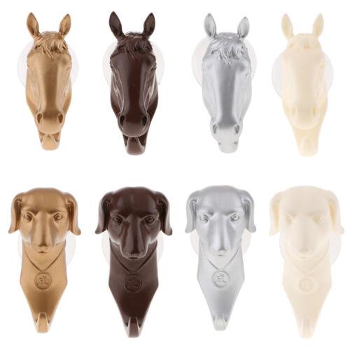 8Pcs 5KG DOG HORSE ANIMAL HEAD WALL HOOK OVER DOOR KEY CLOTHES HAT COAT HOOK