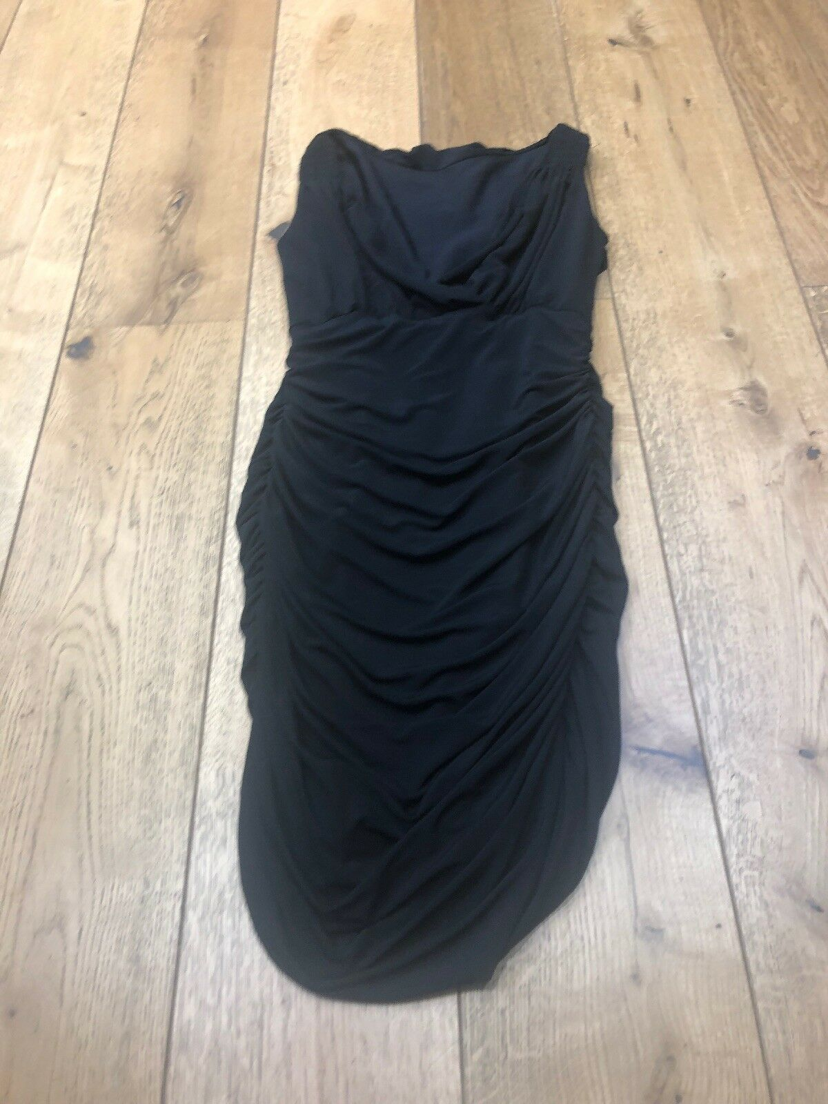 Multiway OMO Norma Kamali robe noir taille M moulante Parti stretch Wiggle AK