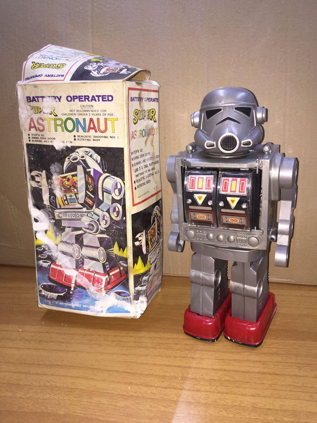 fino al 60% di sconto Battery Operated SUPER ASTRONAUT ROBOT 30 cm in Scatolo Vintage Vintage Vintage  nuovo sadico