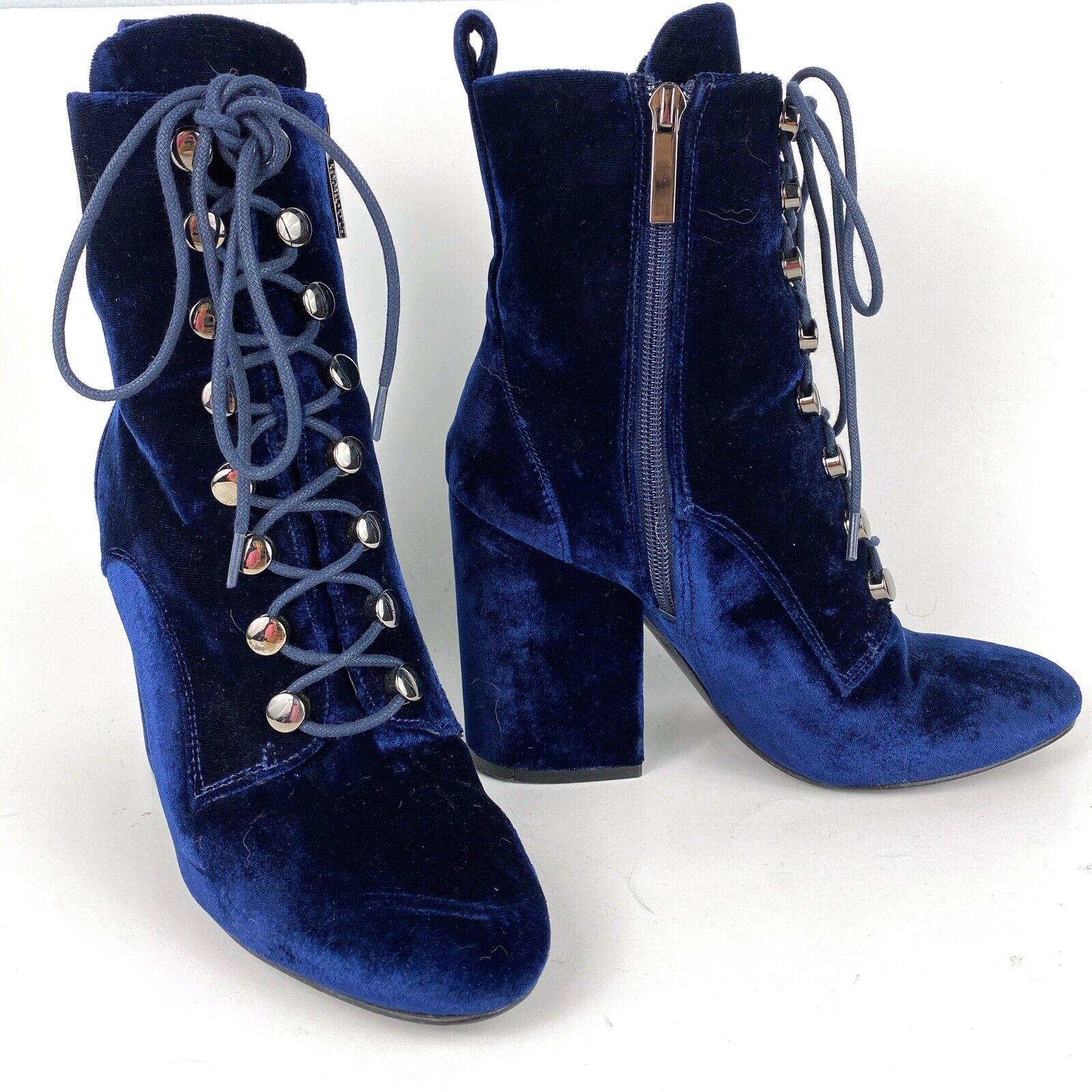 Kendall + Kylie Booties Blue Velvet