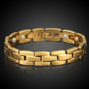 Herren-Damen-Magnetarmband-Gold-Magnetschmuck-Magnetband-Power-Energie-Schmuck