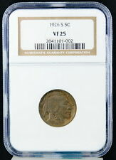 1926S United States 5C Buffalo Indian Head Nickel Five Cents NGC Graded