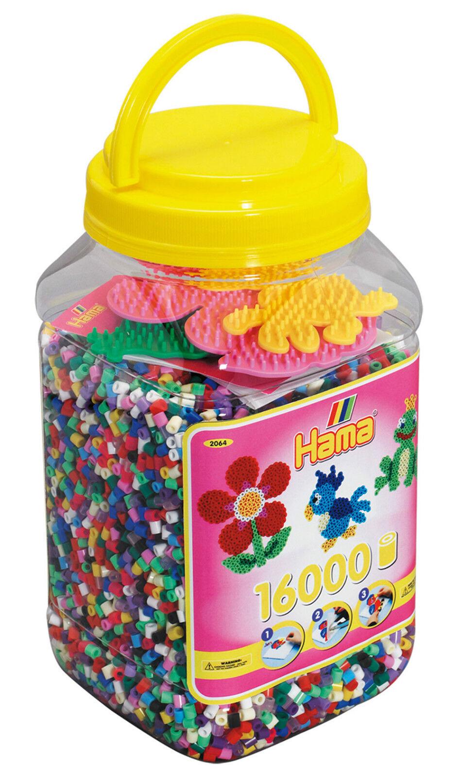 Hama Beads Pegboards Tub Craft (Yellow) 16,000 - NEW