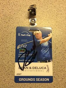 Image is loading Authentic-Jordan-Spieth-Signed-Badge-2017-Dean-amp-