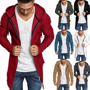 Men-Splicing-Hooded-Trench-Coat-Jacket-Cardigan-Long-Sleeve-Outwear-Blouse-CA