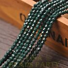 New 200pcs 4mm Bicone Faceted Lustrous Loose Spacer Glass Beads Deep Green