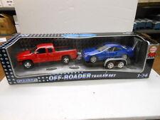 Welly Diecast 1:24 3 Piece Set: Dodge Ram, Mercedes Benz and Trailer
