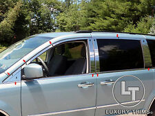 Grand Caravan Town & Country Stainless Steel Chrome Window Package 2008-17 16pcs