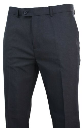 Mens Charcoal Grey Check Straight Leg Tailored Fit Trouser