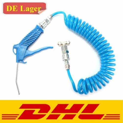 2-Stück Druckluft Zubehör Set Reifendruck Ausblaspistole Kompressor 5m Luftröhre