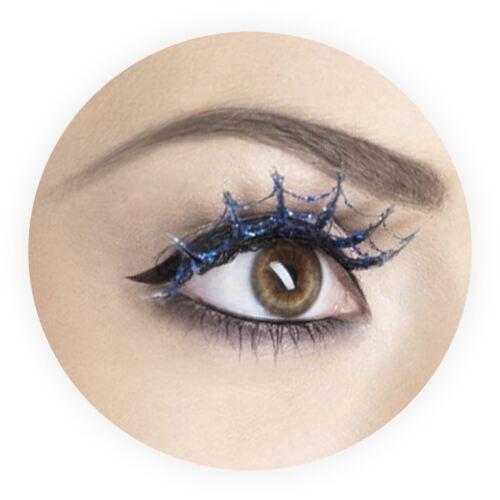 Glittery Spiderweb Eyelashes Halloween Gothic Vampire Lashes Spider Lash Cobweb