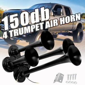 150db-4-Trumpet-Train-Air-Horn-Kit-Loud-Truck-Pickup-For-Ford-Chevy-Ram-Toyota