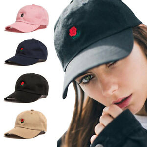 New The Hundreds Dad Hat Fashion Visor Hat Flower Rose Embroidered ... fd56aa9f469