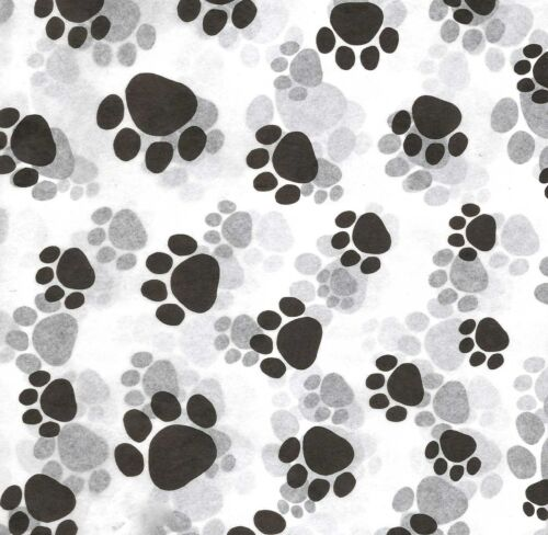 Cat ~ #0231 50 Large Sheets ~ PAW Print Tissue Paper :¦: Dog