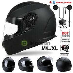 DOT-Motorcycle-Full-Face-Helmet-Modular-Bike-Race-Scooter-Matte-Black-M-L-XL-New