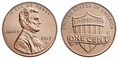 2017 P D GEM BU  from Bank Rolls Lincoln Shield Cent