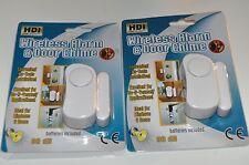 Home Security Alarm Wireless System Burglar 2 Magnetic Sensor Window Door Remote