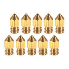 5pcs 3D Printer Nozzle Extruder Print Head Brass for 1.75mm /& 3mm Filament A1K9