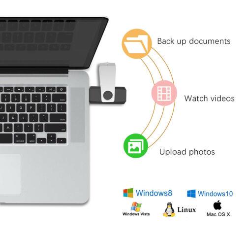 Lot 5//10 pcs 64GB USB 3.0 Flash Drive Memory Stick Swivel Pen Drive Up to 90MB//S