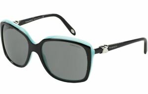 NEW-AUTHENTIC-TIFFANY-amp-CO-TF4076-80553F-TOP-BLACK-BLUE-FRAME-GREY-LENS-58MM