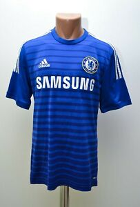 CHELSEA-LONDON-2014-2015-HOME-FOOTBALL-SHIRT-JERSEY-ADIDAS-SIZE-M-ADULT