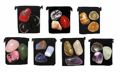 *21 Stone* MEGA- CHAKRA HEALING Tumbled Crystal Set + 7 Pouches & 7 Descriptions