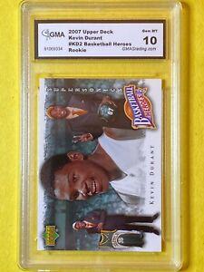 Kevin Durant 2007 Upper Deck #KD2 Basketball Heroes Rookie - GMA 10 GEM MINT