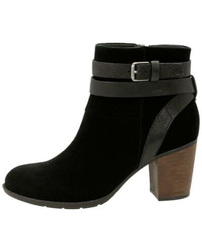 Clarks D cushion 5 Ankle Black 5 Leather Enfield Boot Soft River Winter Size vPTSqrzvwA