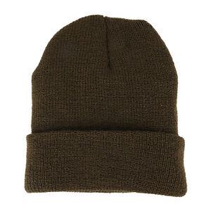 Cuffed Beanie hat cap Plain Knit Warm Winter Skull Ski cap 3M THINSULATE Brown
