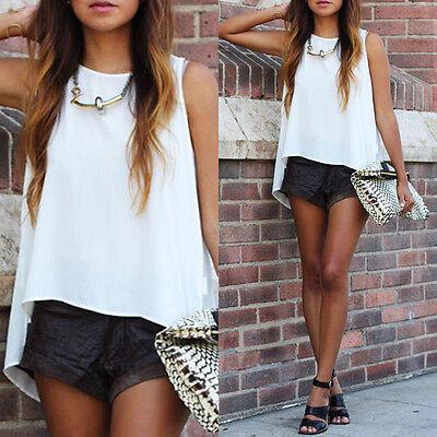 Fashion Women Summer Sleeveless Casual Tank T-Shirt Blouse Tops Vest White CI