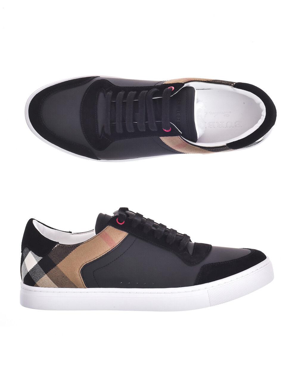 Burberry scarpe scarpe da ginnastica REETH LOW Leather Man nero 4054021