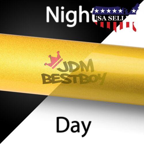 *Reflective Yellow DIY Vinyl Car Wrap Sticker Decal Graphic Sign Adhesive Film