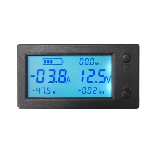 Volt Meter Ammeter W/ Current Sensor DC 300V 50A VOLT AMP Power Capacity AH SOC