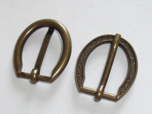 2 Stück Gürtelschnallen Schließen Schnallen 1,5 cm altmessing NEUrostfrei 0192.1