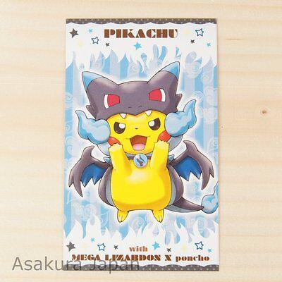 Pokemon Center Poncho Pikachu Series #1 Business Card Mega Charizard X Ver.