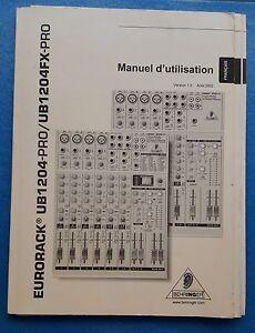 Behringer-Eurorack-UB-1204-pro-and-Fx-Manual-User-Original