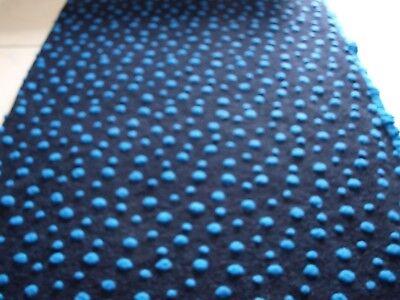 Walkstoff Blumenranke auf blau-petrol Musterwalkstoff Musterwalk ital