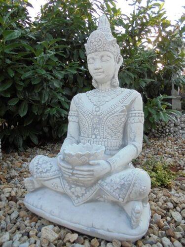 """Statue Gartenfigur /""""Buddha/"""" Tempelwächter Park /& Gartendekoration Steinguss"""