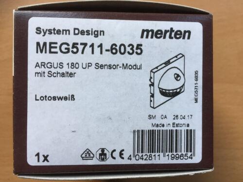 Merten Sensor-Modul ARGUS 180 UP Lotosweiss System Design