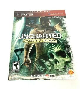 PS3-Playstation-3-Uncharted-Drake-s-Fortune-Greatest-Hits-Sealed-New-Blu-Ray