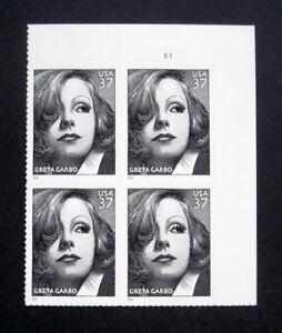 Sc-3943-Plate-Block-37-cent-Greta-Garbo-Issue-df6