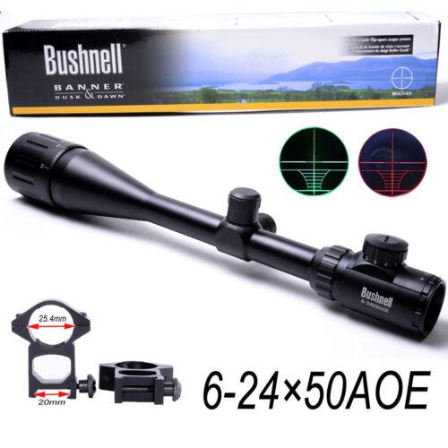 6-24X50 AOEG Rifle Scope Red & Green Mil-Dot Illuminated Sight Sniper Scope
