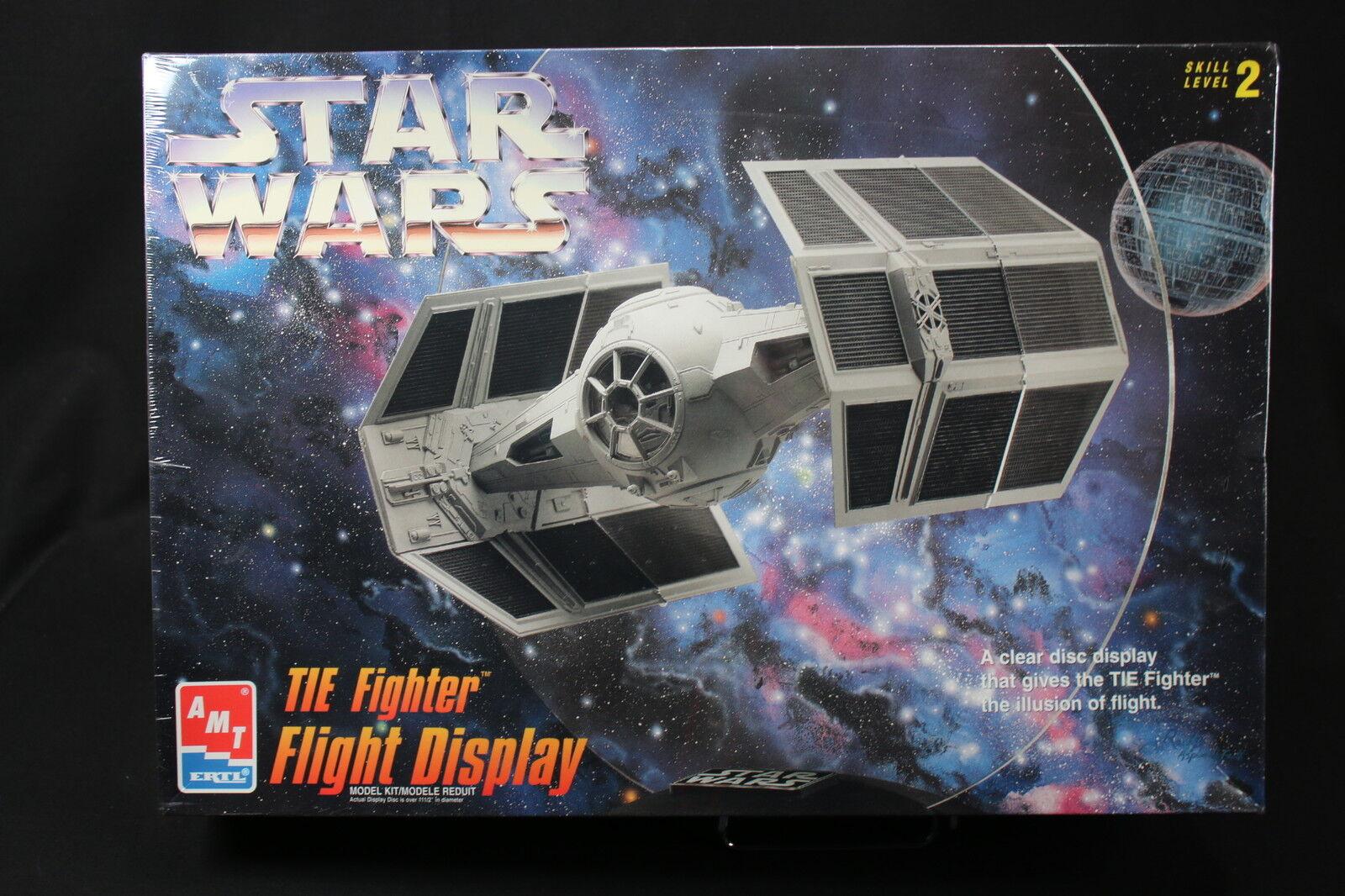 XI014 AMT 29 cm maquette avion 8275 Star Wars TIE Fighter Flight Display