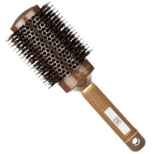 HS-Round-Hair-Brush-Blow-Dry-Drying-Boar-Bristle-53mm-Large-Round-Barrel-Nano-T