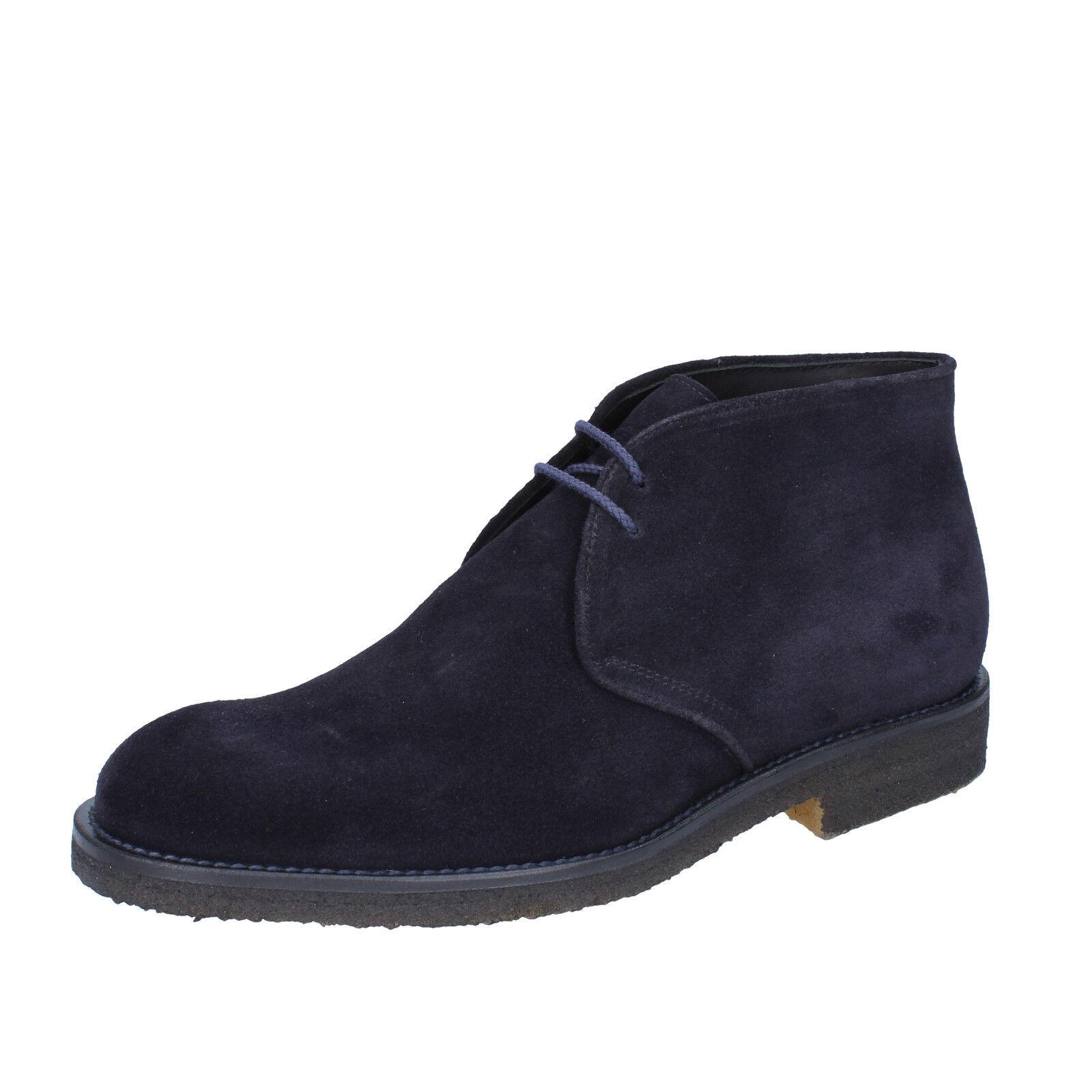 Mens shoes DI MELLA 7,5 (EU 41,5) desert boots bluee suede BZ09-D