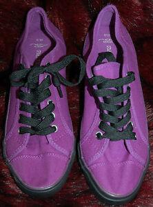 New Lace Flat Chaussures Canvas Escarpins Purple Black Berry 6 Bold Sz Deck Up rxw8qURr