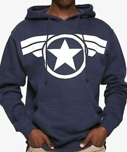 Marvel Captain America Star Logo Men'S Pullover Hoodie by Hot Topic Marvel