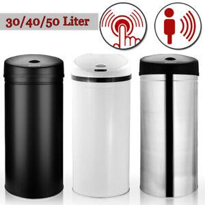 Automatik Sensor Mülleimer Abfalleimer Müllbehälter Kücheneimer EDELSTAHL 30 L
