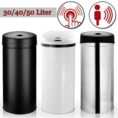 Sensor Mülleimer 30L Abfalleimer Papierkorb Kücheneimer Automatik LED EDELSTAHL