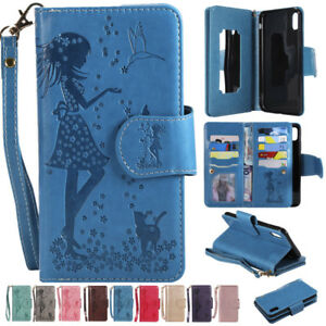 Wallet-Card-Slot-Mirror-Stand-Leather-Case-Cover-For-iPhone-XS-Max-XR-X-8-7-6S